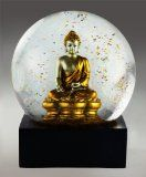 Gold Buddha Statue Snow Globe By CoolSnowGlobes