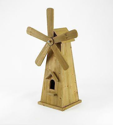 Smart Garden Wooden Windmill Garden Ornament - 52cm H