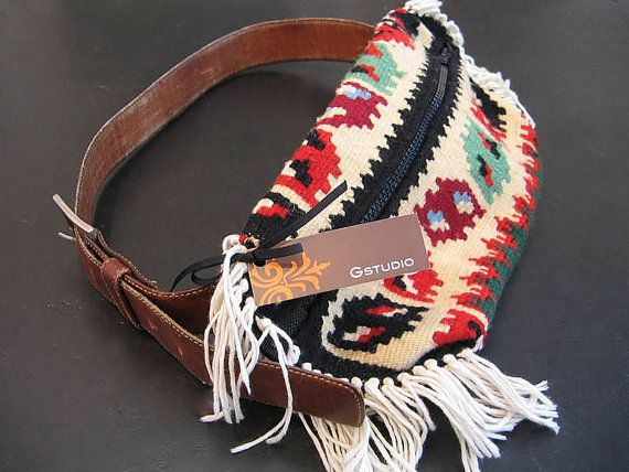 SWEET fanny pack, man. So need one of these! Aztec style