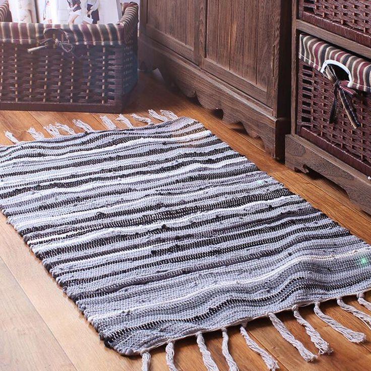 2017 New Fashion Mediterranean Style Cotton Carpet Home Bathroom Skid Resistance Mat Water Absorption Door Floor Mat 7 Colours