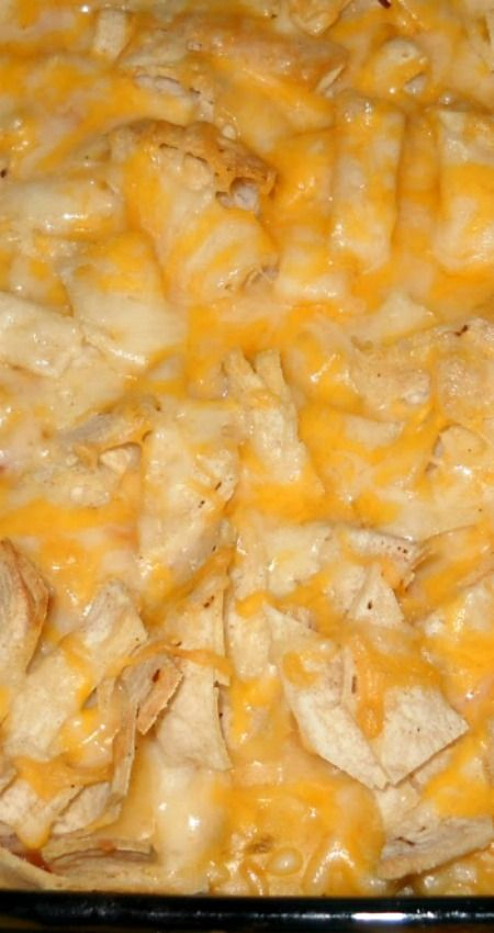 "Chicken Tortilla Bake ~ A simple, quick ""don't have time to think"" dinner"