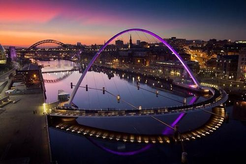 Overlooking the Tyne River ~ Newcastle Upon Tyne, England. Social Media Marketing: The Essential Toolkit bit.ly/1xQnxTs