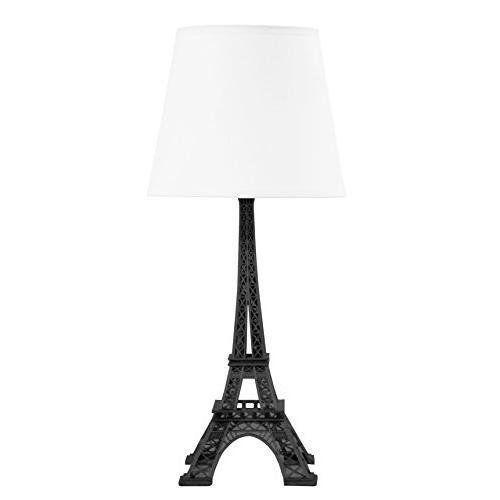 Paris Eiffel Tower Lamp (White Shade) Lightning