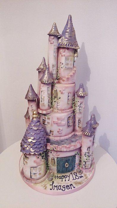 Castle Cake Cake by THE BRIGHTON CAKE COMPANY