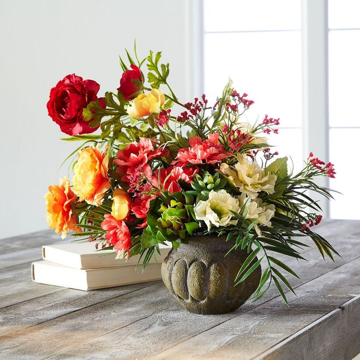 Make This Diy Color Blocked Summer Arrangement To Add A Pop Of Color To Your Home