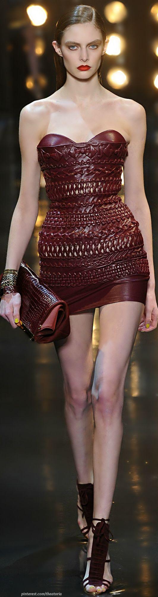 Alexandre Vauthier ● Couture S/S 2014 | Marsala color #marsala #pantone2015 #inspirations #trends #homedecor