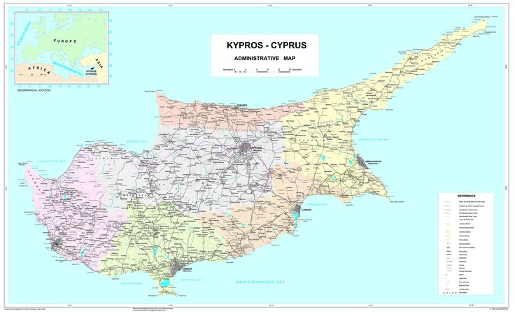 60 best nicosia cyprus images on pinterest cyprus maps and cards administrative map prepared by the department of lands and surveys august 2002 gumiabroncs Choice Image