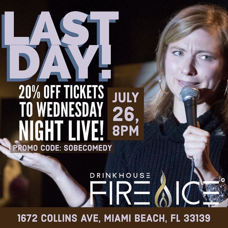 Tonight is the last night! Save on tickets to this months exclusive comedy night in South Beach's only Ice Bar (@icebarmiami) Link in Bio PROMOCODE: SOBECOMEDY #miami #miamicomedy #miakibeachevents #miamibeachnightlife #miamibeachcomedy