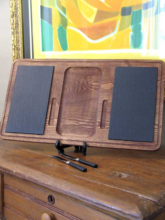 Baribocraft Cutting Board with Slate Inserts