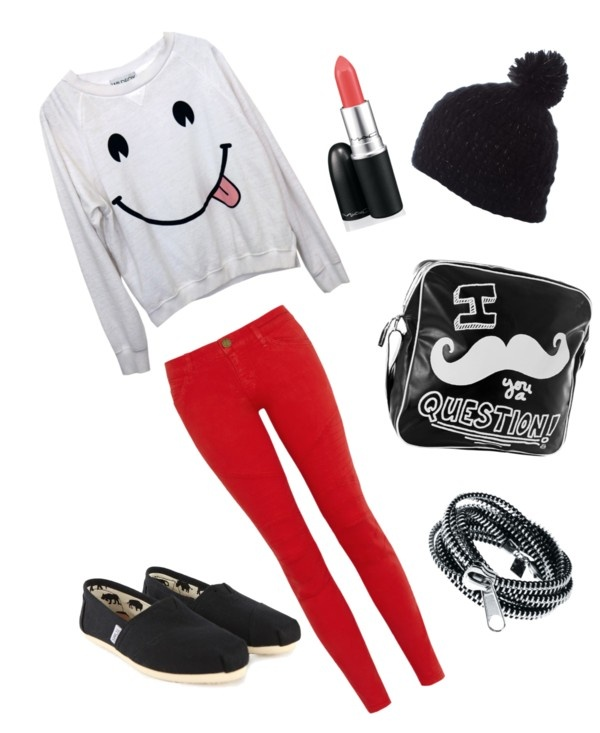 """""""School Outfit 3"""" by sarahstyles94 ❤ liked on Polyvore"""