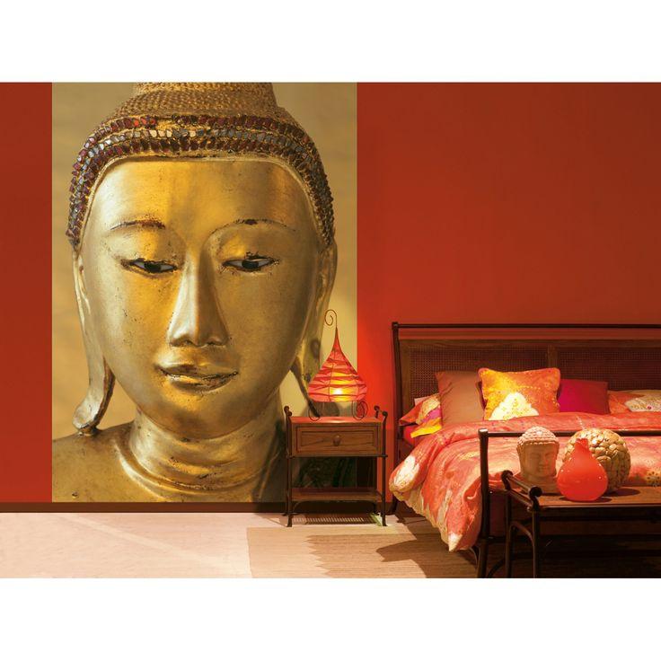 Ideal Decor Golden Buddha Wall Mural - DM405