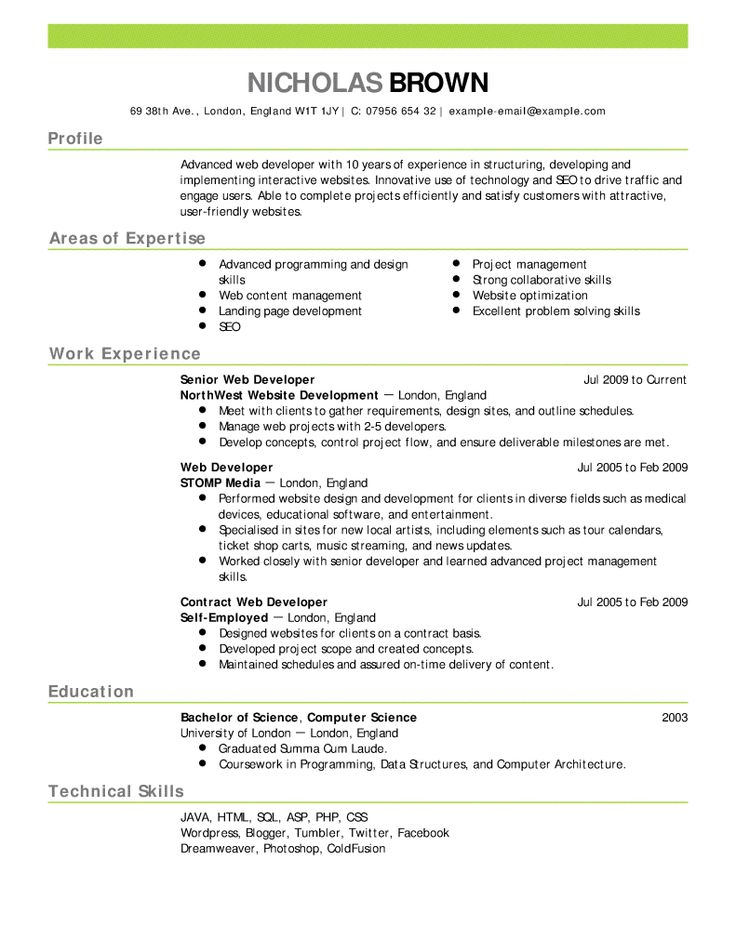 190 best Resume Cv Design images on Pinterest Career consultant - resume examples for college graduates