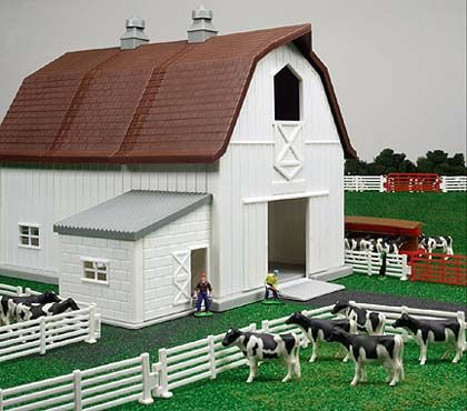 Farm Toys - ERTL - 12279 - Farm Country Dairy Farm Playset - Over 65 Pieces.