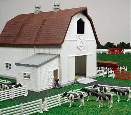 Farm Toys - ERTL - 12279 - Farm Country Dairy Farm Playset - Over 65 Pieces.