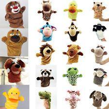 Animaux Muppet Jouet Gant Poupée Marionnette Spectacle Main Peluche Bébé Enfant