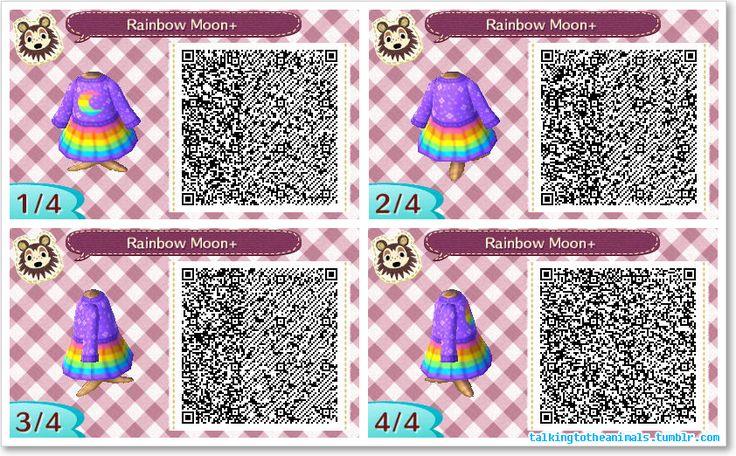 Rainbow moon dress animal crossing new leaf qr codes for Animal crossing new leaf arredamento