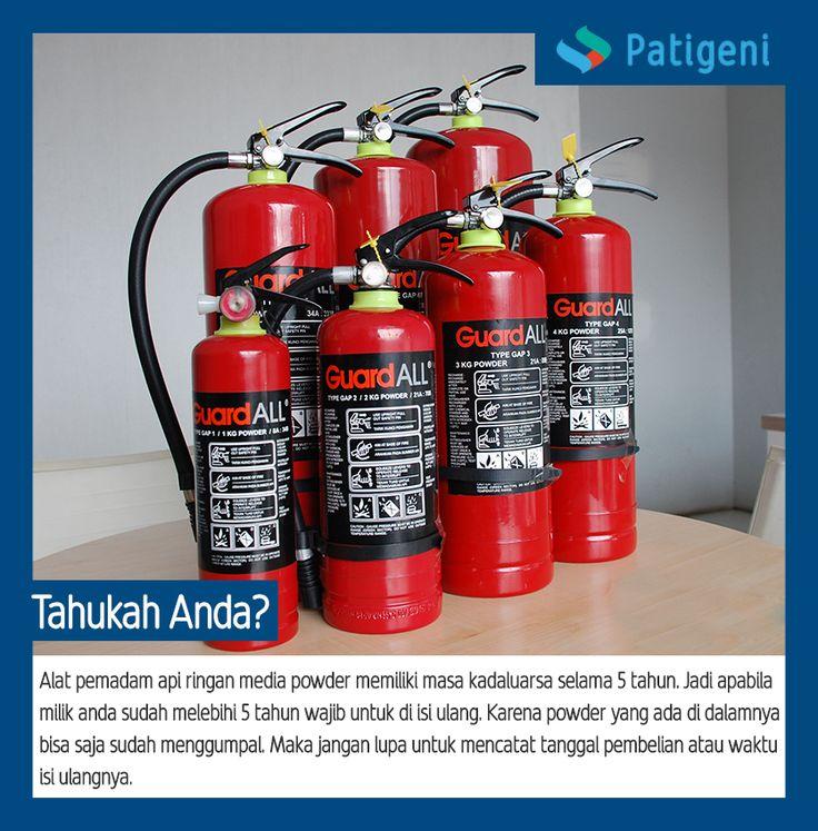 Jangan lupa ya cek tanggal pembelian/isi ulang alat pemadam yang di rumah/ di kantor kalian... #fireextinguisher #patigeni