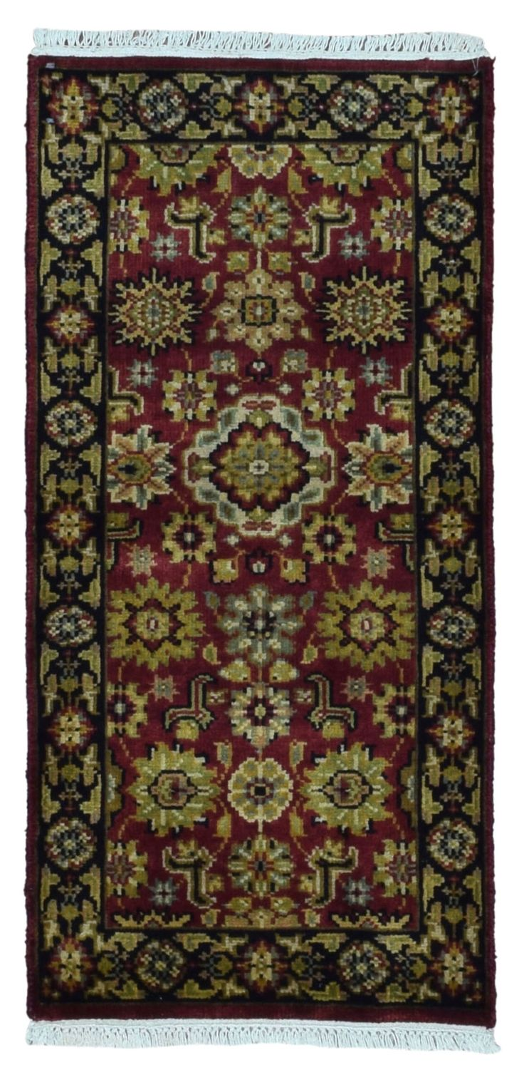 Kashan Small Area Rug 2'X4'