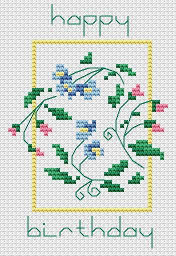 Happy Birthday free cross stitch pattern