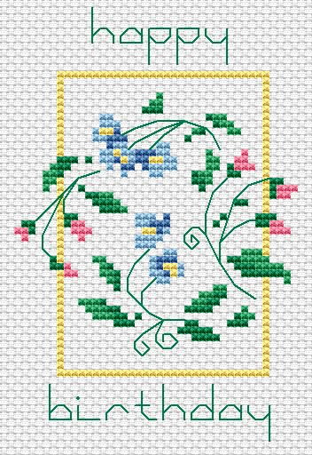 Happy Birthday free cross stitch pattern