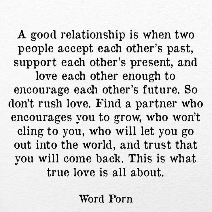 A Good Relationship Via Word Porn