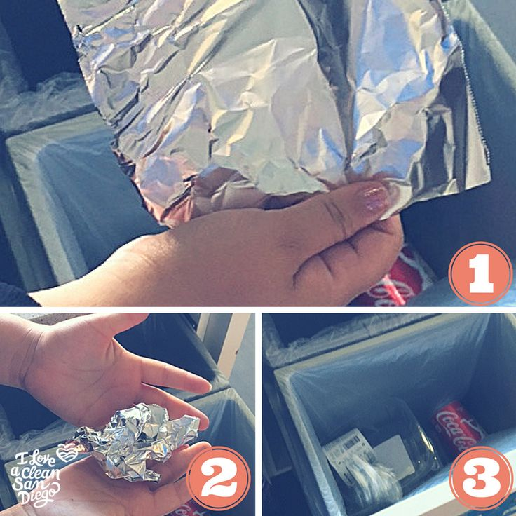Quick recycling tip: recycle clean aluminum foil only! Be sure to crush the foil into a ball and recycle in your blue bin. Measure what is needed before tearing off a piece from the roll. If the aluminum foil is greasy or has food stuck on it, it belongs in the trash! Happy holidays recycling champions!
