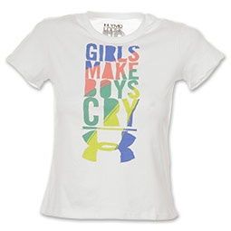 "The Under Armour ""Girls Make Boys Cry"" Kids' Tee Shirt"