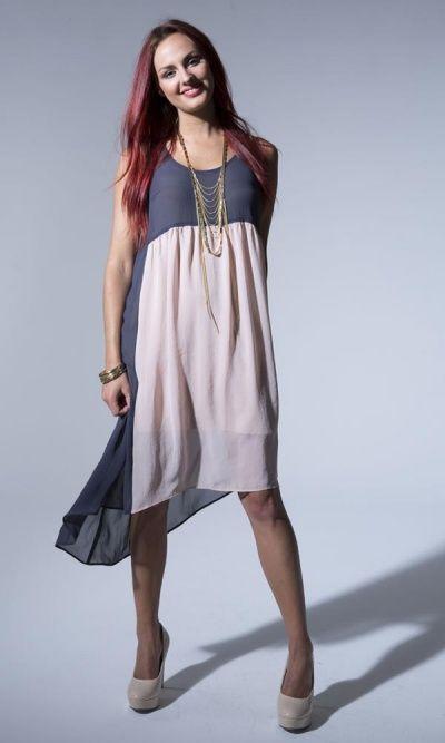 Summer 13 - 82258 Two Tone Drape Dress