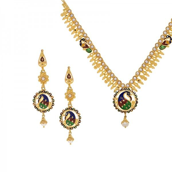 Dainty Peacock Necklace Set