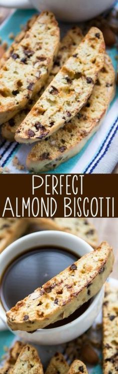This is the PERFECT Almond Biscotti recipe! Perfect for the holiday cookie exchanges!