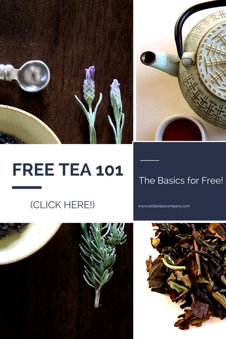 "Ever wanted to learn about tea, but you just didn't think you had the time? Here is your FREE ""TEA 101: The Basics"" to get you started. Click this link to learn how to get your copy. www.sicilianteacompany.com  #tea #tea101 #healthydrinks #brewing"