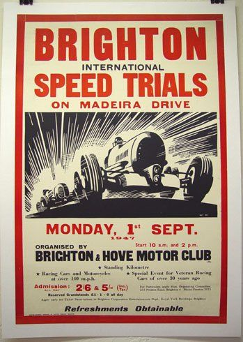 Vintage racing posters - inspiration for National Moto + Cycle