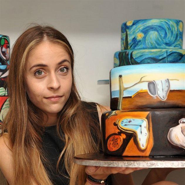 Umělkyně Maria A. Aristidou zdobí dorty slavnými obrazy