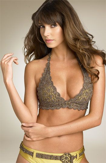 Becca Crochet Ring Halter Bikini Top... i wish my body would still allow me to wear something like this! love it!