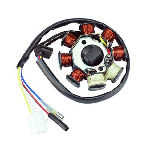 New Alternator Magneto Stator 8 Coil 8 Pole 4-wire Gy6