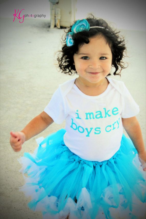 I Make Boys Cry.. Funny Baby Onesie -Toddler Tee also available - Your Color Choice on Etsy, $18.00