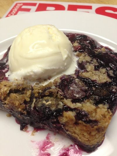 It's blueberry season, which means it's also Blueberry Oatmeal Crisp season! Yum!