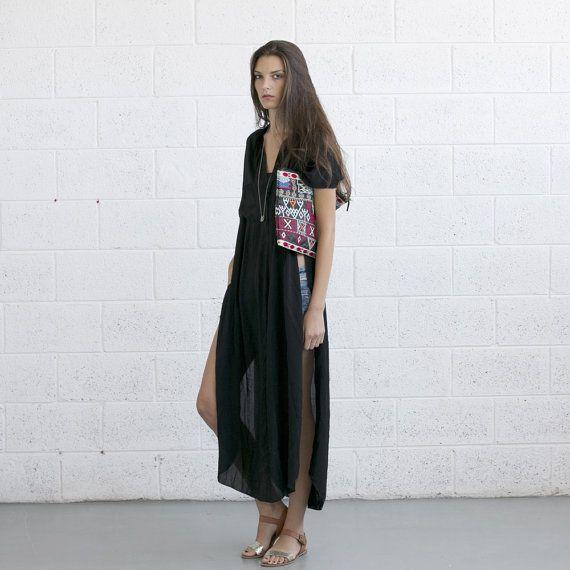 Cute swimsuit coverup!  Summer sale Long Kaftan Dress by naftul on Etsy, $96.00