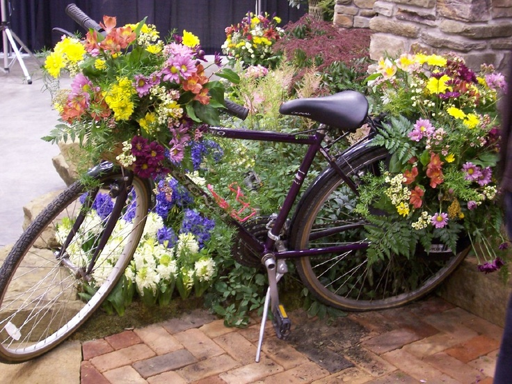 Best Bicycle Gardens Images On Pinterest Bicycle Bike - Home and garden show cleveland