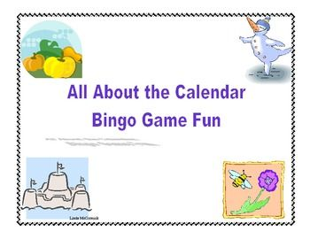 Calendar Skills Bingo Game This is the product for a complete review of the calendar using a colorful Bingo game format.  Review the days of the week, months, holidays, seasons, and number of days in the months.
