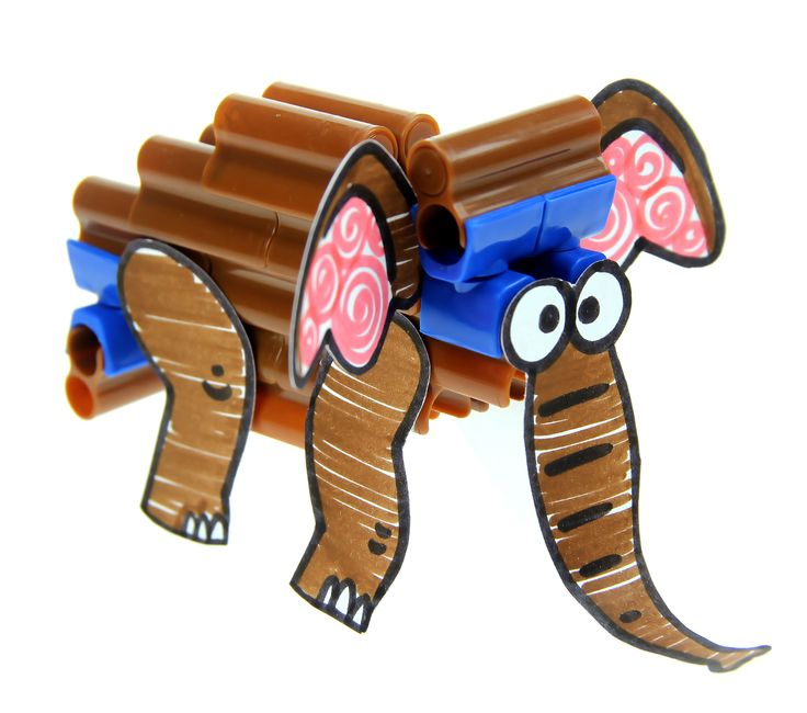 Elephant craft with connector pen