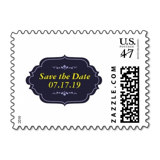 Elegant Save the Date Postage Stamp