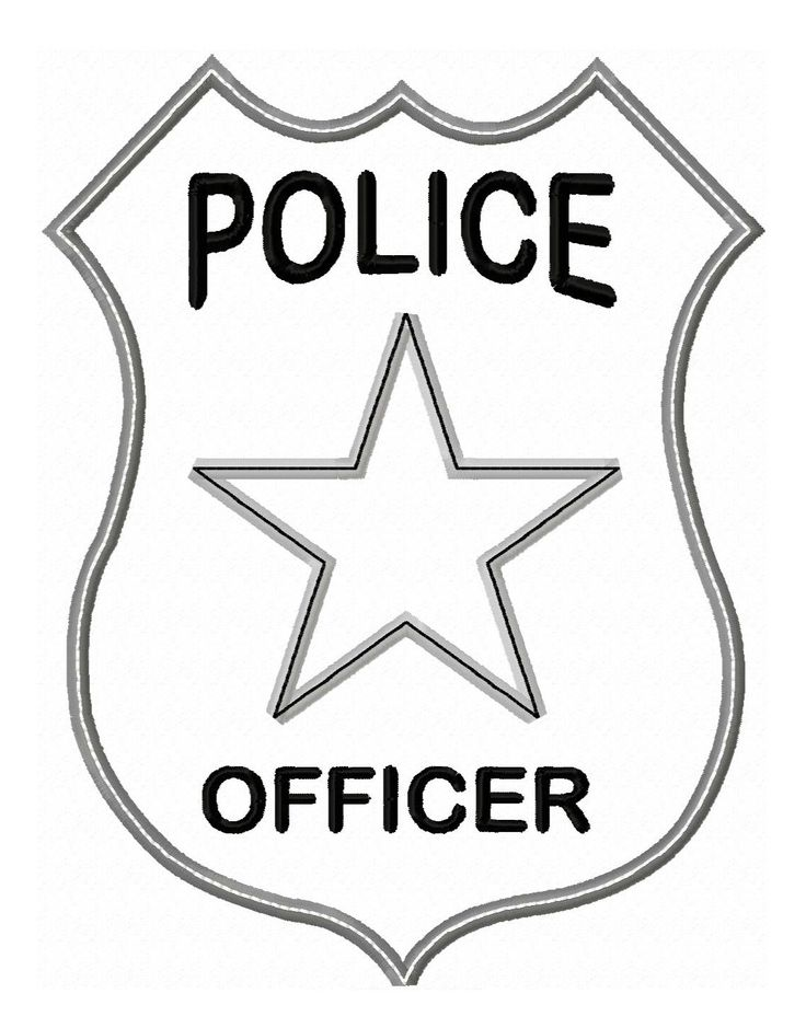 Police Badge Colouring Pages