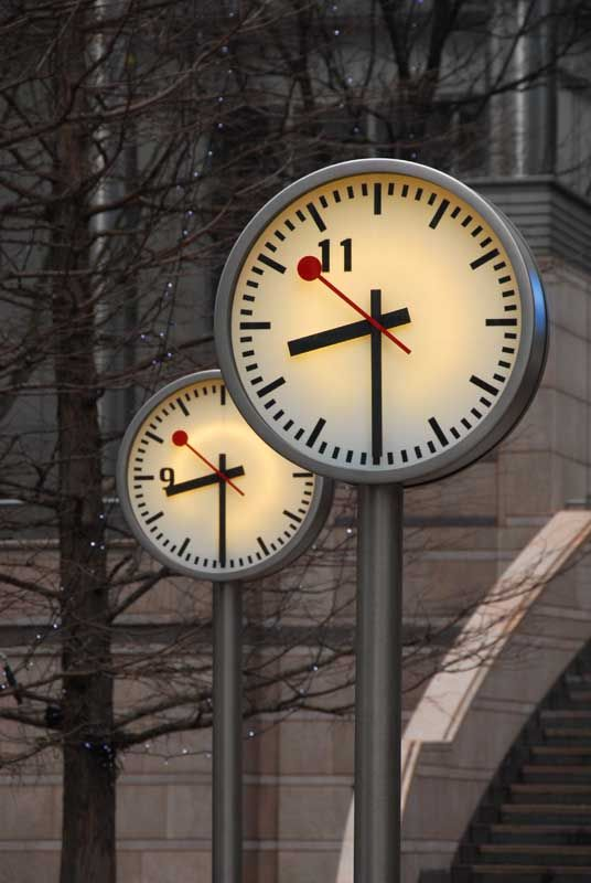These look like they're outside. Be really cool if one was a thermometer & one was a clock!!