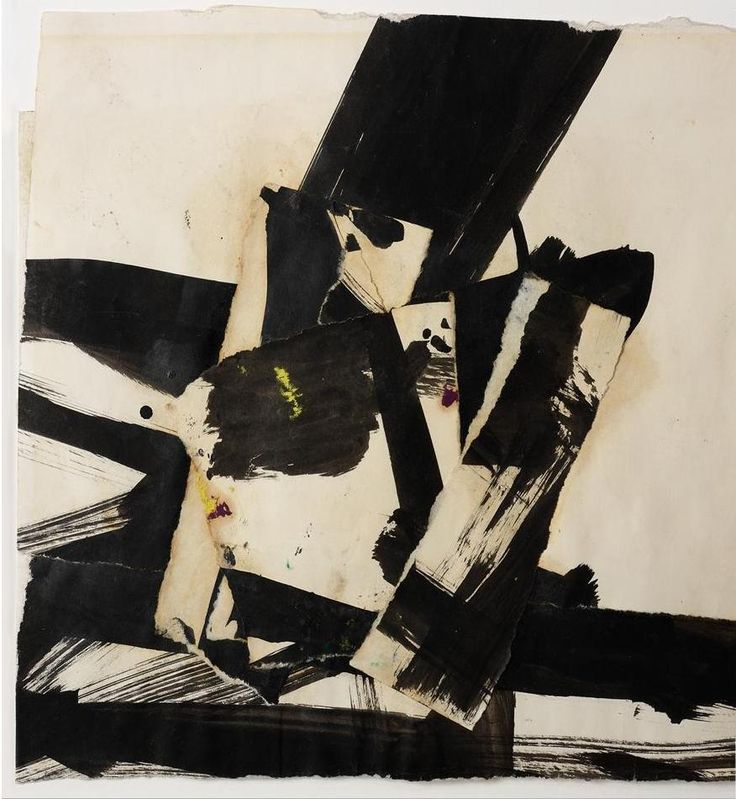 Franz Kline (American: 1910–1962) - Abstract - Black and White