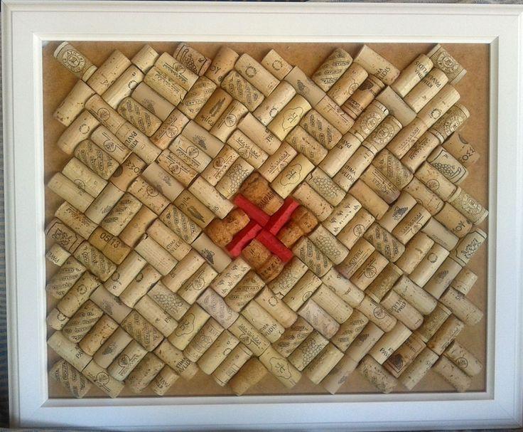 Pin Board made of half cut corks. Size: 50x70 cm