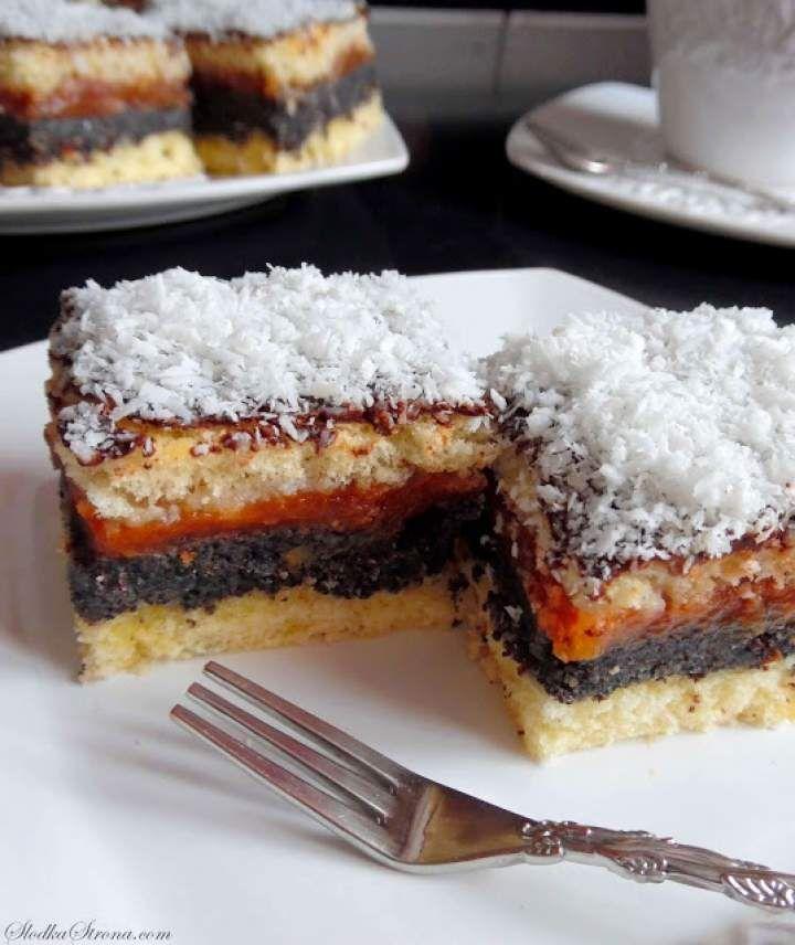 Ciasto Makowo-Jabłkowe na Biszkopcie (Makowiec z Jabłkami)