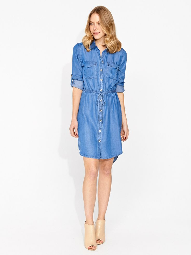 Image for Chambray Shirt Dress from Portmans