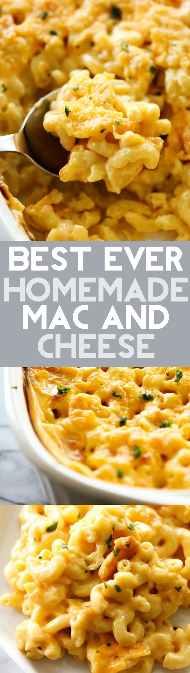 This Mac and Cheese is my mom's famous recipe. It is creamy, cheesy and completely addictive! It makes for a fabulous side dish whoever it goes and is extremely popular! There is never any left!
