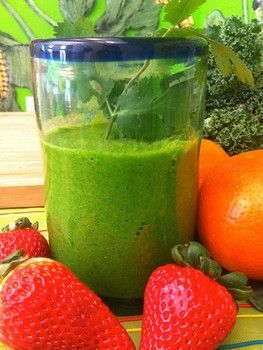 Morning Energy Smoothie  http://www.blisstree.com/2011/12/19/food/5-simple-green-smoothie-recipes-that-actually-taste-good-561/gallery-page/5/